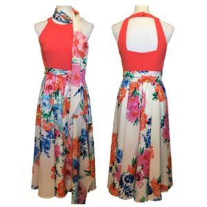Eliza J. Awesome Coral Floral Dress!   Size 2
